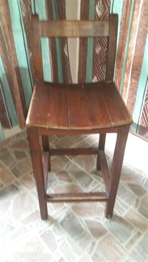 Solid Wooden Bar Chair