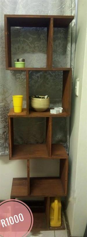 S Shaped wooden shelf for sale