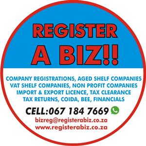 COMPANY REGISTRATIONS, SECRETARIAL SERVICES AND TAX SERVICES