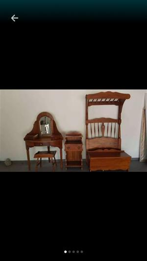 Antique oak girls bedroom suite