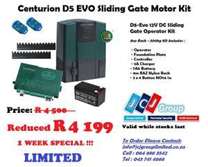 CENTURION D5 EVO SLIDING GATE MOTOR KIT (E.L)
