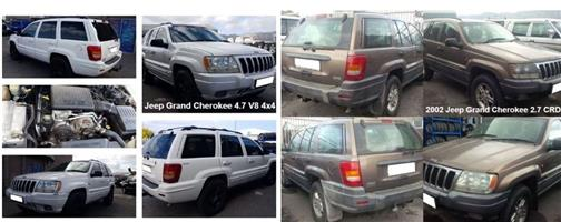 Jeep Grand Cherokee stripping for spares.