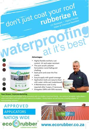 ECO RUBBER DIY KITS AVAILABLE NATIONWIDE & APPLICATORS!!!
