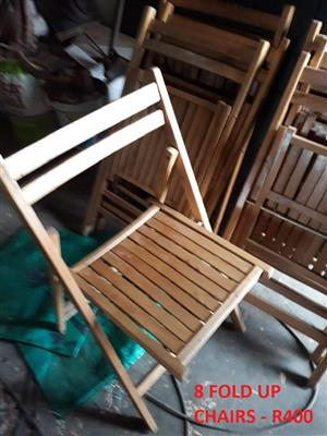 8 Fold up chairs for sale