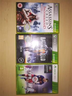 Xbox 360 games R200 elk
