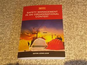 Safety Management in an Organisational context (L.Louw) textbook for sale