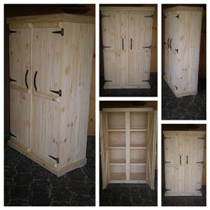 Kitchen Cupboard Farmhouse series Free standing 1700 with 2 doors - Raw