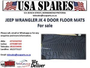jeep wrangler jk 4 door floor mats for sale