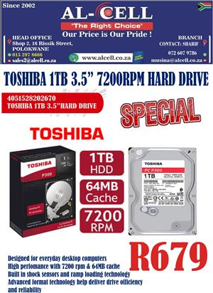 Toshiba 1TB 3.5″ Inch 7200 RPM Internal Hard Drive