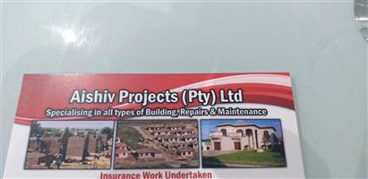 Aish tarmac,bldg,maint,paintin,Electrical,plumbing