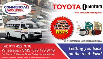 Service Kits For Toyota Quantum Sesfikile For Sale.