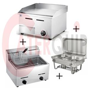 GRILLER AND FRYER COMBO GAS