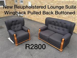 New Reupholstered 2 piece lounge suite for sale.