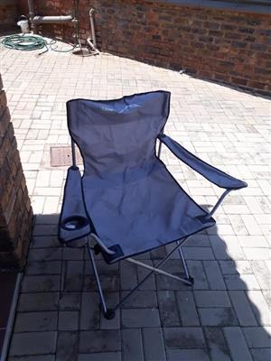 Blue camp master camping chair for sale