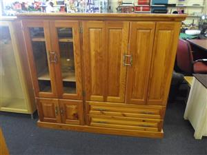 Oregon Pine TV Cabinet