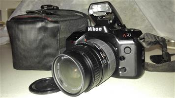 NIKON N70 FILM CAMERA with a 28 to 80 mm Sigma Zoom lens