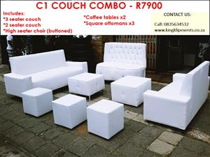 Event Couch combos for sale