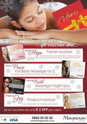 MANGWANANI SPA VOUCHERS FOR TWO
