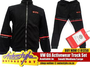 vw gti activewear track set, track suit set , GTI Volkswagen activewear, jogger pants, winter jerseys, track pants, track sets, track suits. Original Licensed Products.