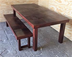 Patio table Farmhouse series 2000 Combo 2 - Stained