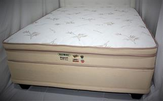 Restonic Signet Bamboo Double Mattress and Base Set