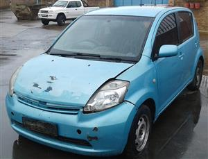 Turquoise Daihatsu Sirion 1.3lt 2008 Stripping for spares