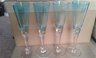 Blue sherry glasses for sale