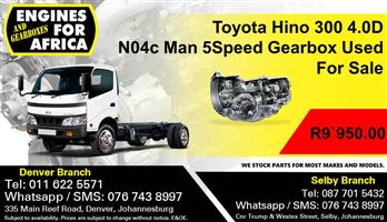 Toyota Hino 300 4.0D N04c Man 5Speed Gearbox Used For Sale.