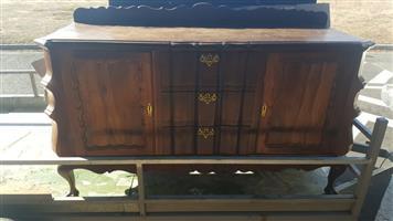Solid old stinkwood side board for sale.