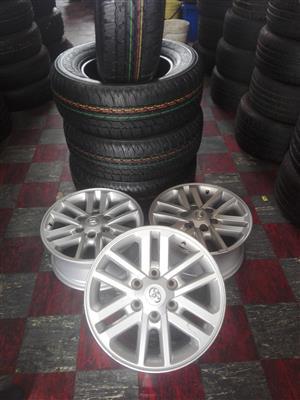 "17""Toyota Rims and Bridgestone dueller tyres"