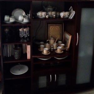 Mahogany TV/Display wall unit..