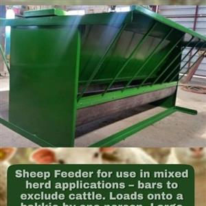 Sheep feeder for use in mixed herd applications