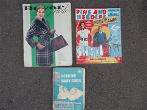 Vintage Knitting & Sewing Magazines - very old