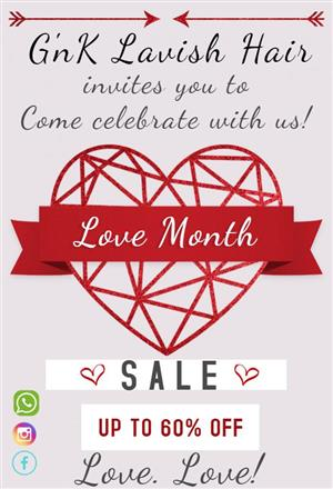 Love month sale on hair