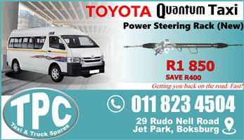 Toyota Quantum Power Steering Rack - New - New & Used Quality Replacement Taxi Spare Parts.