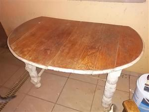 Wooden half moon table for sale