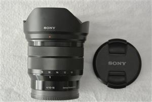Sony E 10-18 F4 OSS Lens (E Mount) Mint Condition