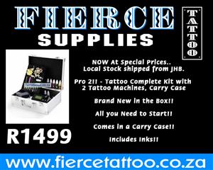 Local Stock - Pro Kit 2 - Tattoo Complete Kit - 2 Machines!! Carry Case Included!!
