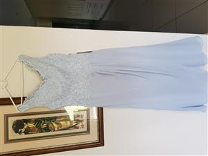 Beautiful soft blue Mother of the bride dress