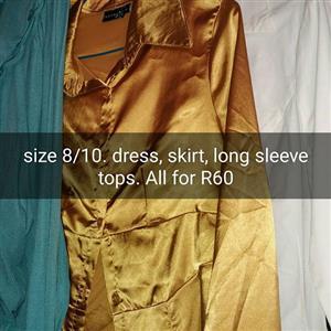 Dress,skirt and long sleeve tops