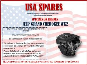 JEEP GRAND CHEROKEE WK2 2019 USED ENGINE SPECIALS