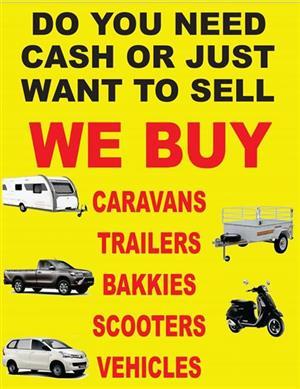 Caravans wanted for cash
