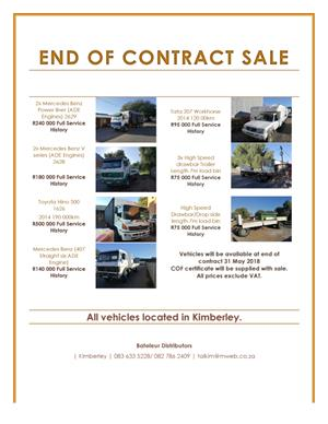 end of contract sale commercial vehicles junk mail