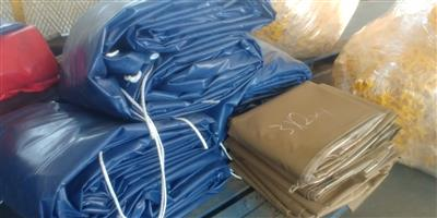 9m x 9m and 16m x 9m heavy duty pvc truck tarpaulins and cargo nets readily available