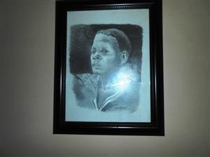 African Man Pencil Sketch