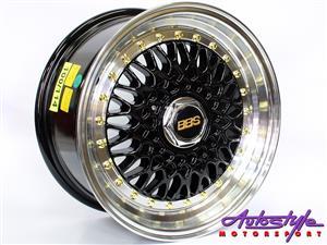 15 inch Evo BSS Black 5-100  5-114 Alloy Wheels BBS Style