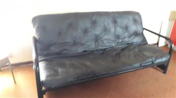 Sleeper Couch black in color, still very strong & price reduced