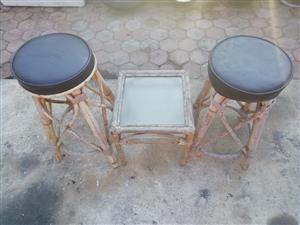 Kane table with two chairs