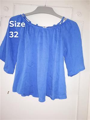 Light blue traffic blouse for sale