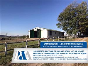 COUNTRY FARMHOUSE WITH 4 BEDROOM RESIDENCE, 2ND DWELLING & SEMI-DETACHED COTTAGE-UMLAAS ROAD ±10 HA (CLOSE PROXIMITY TO MANDERSTON STATION- P120 BISLEY ROAD)